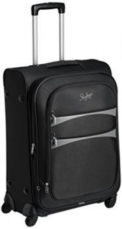 Skybags Polyester 67 cms Black Softsided Suitcase (STROVW67BLK)