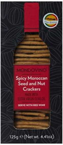 Artisan Spicy Moroccan Seed and Nut Crackers, 125g
