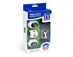 PGA Tour (T150) Men's Pro Putt Training Golf Balls, Pack of 3 (White)