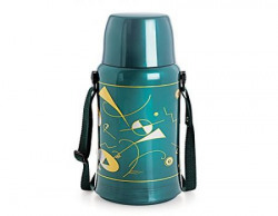 Cello Orchid Belt Flask, 750ml, Green