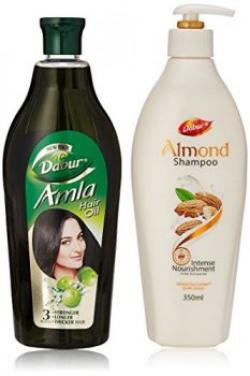 Dabur Almond Intense Nourishment Shampoo, 350ml with Free Dabur Oil, 450ml (Worth Rupees 190)
