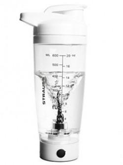 Strauss Automatic Shaker Bottle, 600ml (White)