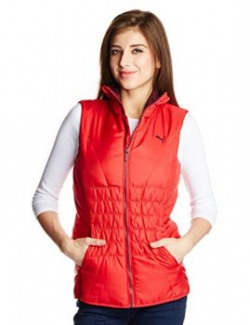 Puma Women's Jacket (83747227_Lipstick Red_Large)