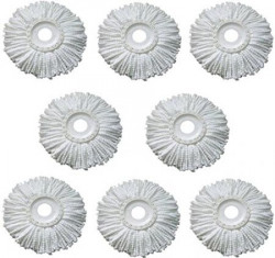 Royal Export Pack of 8 Replacement Head Refill for 360 Rotating Easy Mop Magic Mop Spin Mop Cleaner Duster