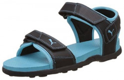 Puma Women's Sonic III Wn's Black and Blue Radiance Athletic and Outdoor Sandals - 7 UK/India (40.5 EU)