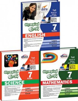 Olympiad Champs Science, Mathematics, English Class 7 with 15 Mock Online Olympiad Tests (Set of 3 Books)