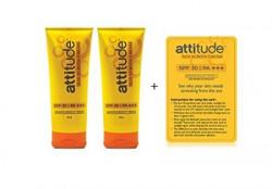 Attitude Sunscreen Cream (100 g X 2 = 200 Gm With Free Demo Card )
