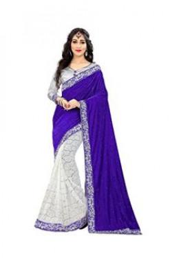Niddhi Lace Blue Velvet & Net Saree