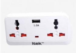 Itek Multi Plug Adaptor (White)