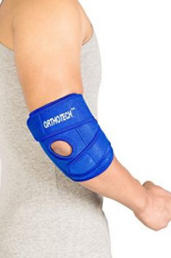 Orthotech OR-3112 Elbow Support with Stays ( Free Size, Blue )
