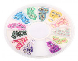Imported 3D Rubber Butterfly Nail Art Decoration