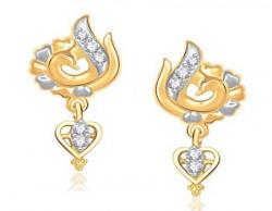 Vk Jewels Inspired Mayur Gold Brass Alloy Cz American Diamond Earring for Women Vker1217G