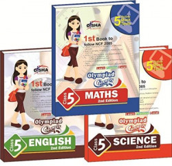 Olympiad Champs Science, Mathematics, English Class 5 with 15 Mock Online Olympiad Tests (Set of 3 Book)