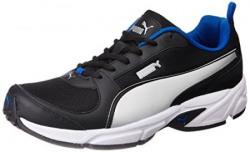 Puma Men's Agility IDP Puma Black, Puma Silver and Royal Blue Running Shoes - 9 UK/India (43 EU)