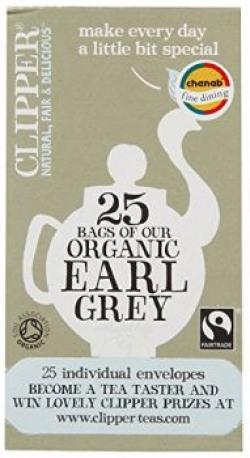 Clipper Organic Earl Grey Tea (Enveloped Tea Bags), 50g
