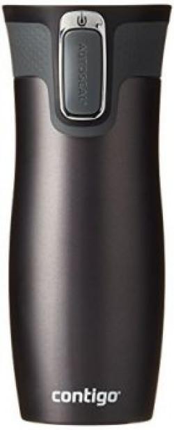 Contigo 1000-0579 West Loop Plastic and Stainless Steel Thermal Mug, 470ml (Grey/Gunmetal Matte Transparent)