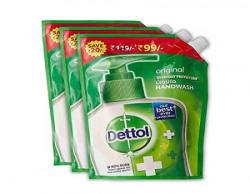 Dettol Liquid Handwash Original Refill - 450 ml (Pack of 3)