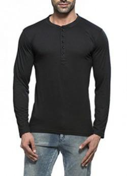 Alan Jones Men's Cotton Henley Solid T-Shirt