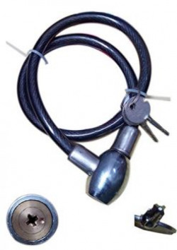 Rudra Automobiles RACBloc Cable Lock - Color May Vary