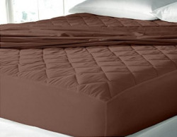 Waterproof & Dustproof Mattress Protector King Size - 78 X72 -For King Size Mattress-DarkBrown-By Cloth Fusion