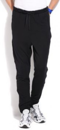 Adidas Solid Men's Black Track Pants