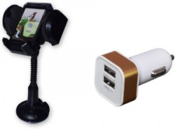 Auto Hub 1 Mobile Holder, 1 Car Charger Combo