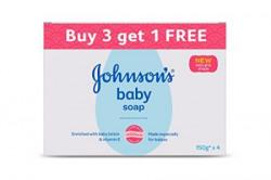 Johnson's Baby Soap, 150g (Buy 3 Get 1 Free)