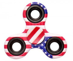 Captain America Fidget Spinner - Anti Anxiety Fidget Spinner Helps Focusing Fidget Toys [3D Figit] Premium Quality EDC Focus Toy for Kids & Adults - Best Stress Reducer Relieves Anxiety and Boredom Ceramic Cube Bearing -Multicolor By ART N SOUL