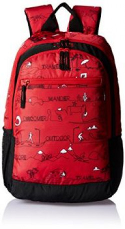 Wildcraft 24 Ltrs LD_Red Casual Backpack (Wiki Ski)