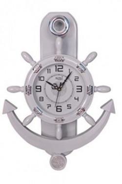 Altra Plastic Pendulum Wall Clock (45 cm x 30 cm x 5 cm, White)