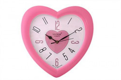 Victor Plastic Analog Wall Clock (26 cm x 26 cm x 5 cm, Pink, X04-PINK)