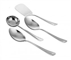 Classic Essentials Stainless Steel Ladle Set, 31cm, Set of 4, Silver