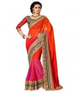 Janasya Georgette Saree (Jne0860_Multi-Coloured)