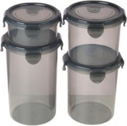 Bel Casa Lock & Store Round - 300 ml, 600 ml, 900 ml, 1230 ml Polypropylene Multi-purpose Storage Container
