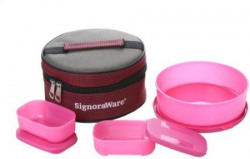 Signoraware Classic Lunch Box (With Bag) - 140 ml, 800 ml Plastic Food Storage