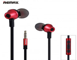 Remax RM-610D Premium In-Ear Headphones with Mic (Red/Black)