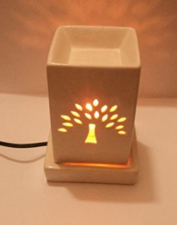 Micro 100 Tools Pure Source India Electric Aroma Burner square Shape with 10 ML Aroma Oil Lemon Grass Good Quality