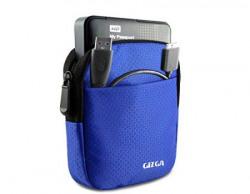 GIZGA 2.5  Hard Drive Case - Impact Resistant Jacket Pouch (Royal Blue)