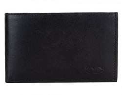amicraft Black Bi-fold Genuine Leather Men's Wallet(6 Card Slots)