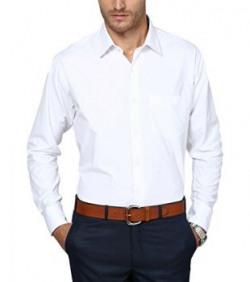 SHAFTESBURY LONDON Men's Formal Shirt (PR007slimz--40, White, 40)