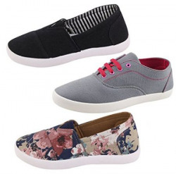 Globalite Combo Of 3 Women's Casual Shoes GSC1136_1128_1140 Sneaker UK/IN 5