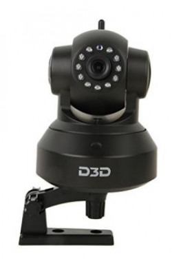 D3D Wireless HD IP WIFI CCTV Indoor Security Camera (Support Upto 128 GB Micro SD Card) (Black Color)
