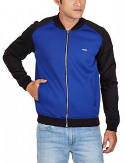 United Colors of Benetton Men's Synthetic Jacket (8903975037304_15A2FS1C7007I90154_xx-large_Blue)(No Returns, No Exchange )