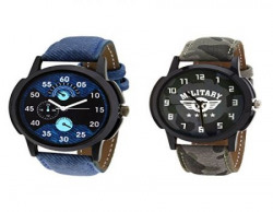 Relish Combo of 2 Analogue Multicolor Dial Mens Watches-Relish-930C