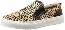 British Knights Women's Chip Off White Spots and Dark Brown Sneakers - 6.5 UK (B35-3615-13)