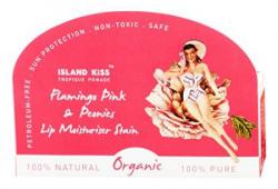 Island Kiss, 100% Natural & Organic Lip Balm, Moisturiser & Stain Triple Pack - Tutu Cute With Spf 15, Flamingo Pink (14 Gms) + Black Rose & Grenade Rouge (14Gms) + Peurto Berry Blush (14Gms)