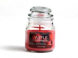 Hosley Apple Cinnamon Highly Fragranced, 2.65 Oz wax, Jar Candle