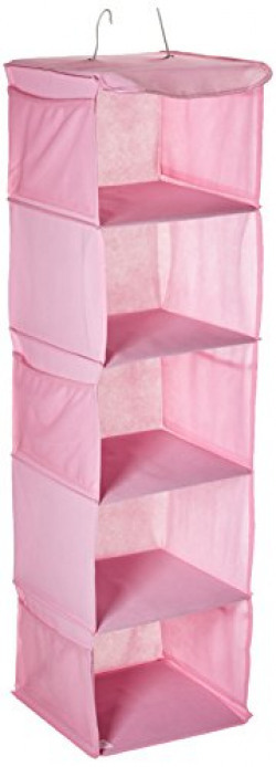 Whitmor Metal Hanging Accessory Shelved Organizer (Pink)