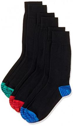 Marks & Spencer Men's Calf Socks (Pack of 3)(0000006407605_Black Mix)