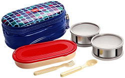 Cello Big Bite 3 Container Lunch Packs, Blue